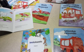 Author Themba Mabaso reads from his mother tongue children's books