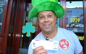 Jeremy celebrates St Patrick's Day with KDay 2014 tickets