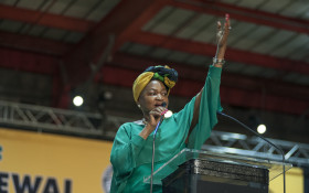 #ANC54 fashion: Just who was responsible for Mbete's beautiful wrap?