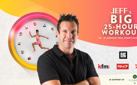 Kfm 94.5 and Big Concerts are proud to present JEFF's Big 25-Hour Workout