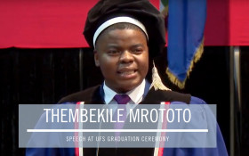 [MUST WATCH] Thembekile's inspiring speech at the UFS graduation ceremony