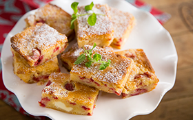 These Raspberry Blondies will satisfy any sweet tooth