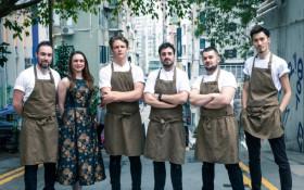 A team of chefs embark on a journey to open 20 pop-up restaurants