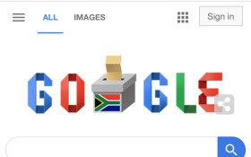 Google doodle celebrates Mzansi's 6th democratic election