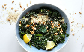 Recipe: Creamy Vegan Parmesan & Pine Nut Kale