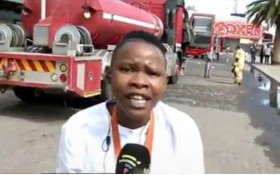 [WATCH] SABC reporter heading for danger during looting goes viral