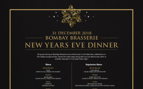 New Years Eve in Bombay Brasserie - 5 Course Dinner