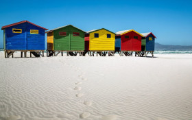 Local community restoring Muizenberg's iconic beach huts to its former glory