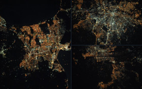 Pictures of Joburg, Cape Town and Pretoria at night from space go viral