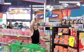 [WATCH] Woman throws tantrum at supermarket when asked to wear a mask