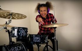 SA-born Nandi Bushell takes on David Grohl in an epic drum battle