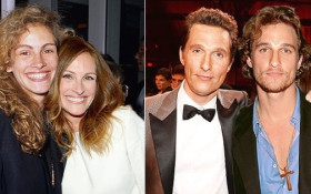 Oscar winners pose with their younger selves