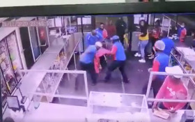[WATCH] Engen petrol attendants beating up unruly customers goes viral