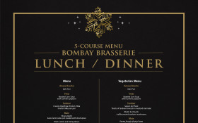 Christmas Eve/Day in Bombay Brasserie - 5 Course Dinner