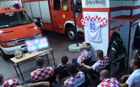 [Watch] Croatian firefighters about to see winning penalty, then duty calls...