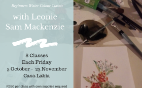 Beginners Water Colour Classes with Leonie Sam Mackenzie