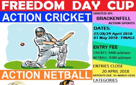Indoor Cricket & Netball Freedom Day Cup 2018