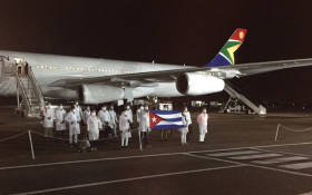Over 200 Cuban health workers land in SA to help fight COVID-19