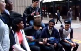 Cape Town Music Students Surprise this Homeless Man