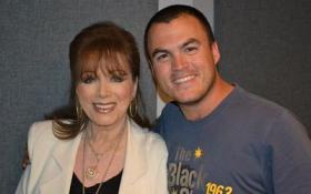 Ryan with the late Jackie Collins