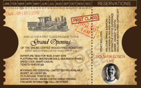 Snobs Coffee Wood-Fired Roastery- Grand Opening with Bouwer Bosch