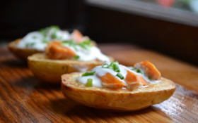How to make roast potatoes with hot smoked salmon (there's nothing better!)