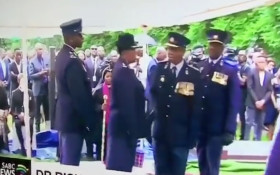 [WATCH] SAPS officers embarrassing themselves at Maponya's funeral goes viral
