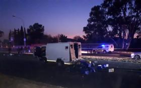 [PICS & VIDEO] Heavy gun fire... Another cash in transit heist in Boksburg