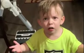[WATCH] Toddler upset that mom didn't give him a goodbye kiss, is so adorable