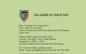 Villager FC Corporate Golf day