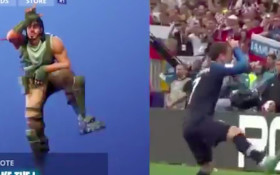 [WATCH] French striker Griezmann offends some with Fortnite L-dance after goal