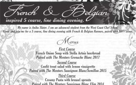 French & Belgium 5 Course Fine Dinning Wine Pairing