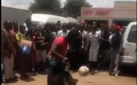 [WATCH] Elderly woman showing off her soccer skills, has social media buzzing