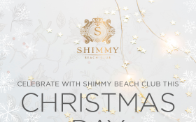 Celebrate with Shimmy beach club this Christmas day