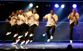 Ladysmith Black Mambazo's Tshabalala accepted award at Grammys with a dance