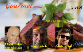 Gourmet evening at die Boer theatre