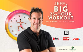 肯德基94.5和大型音乐会很荣幸为您介绍JEFF的25小时大型锻炼