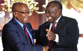 [GALLERY] Party politics... Ramaphosa says cheers to Zuma