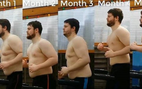[WATCH] Man records every treadmill run over 8 months... and shows weight loss
