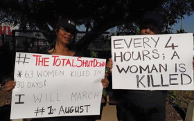 Call for women to join the #TotalShutdown march against gender based violence
