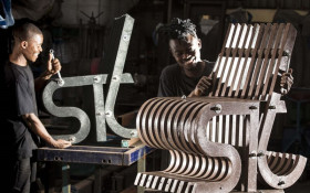 Outdoor furniture made from recycled plastic raises awareness of ocean pollution
