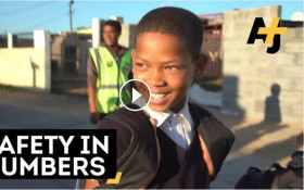 """How the """"Walking Bus"""" keeps Cape Town kids safe"""
