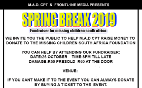 Spring Break 2019 fundraiser for missing girls