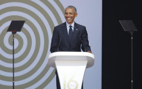 Obama: Real democracy means govt exists to serve the people