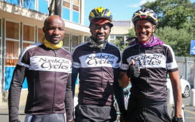 Previous Lead SA Hero, Lindsay cycles for change