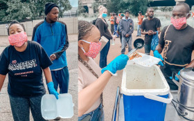 Mantsoe Pout and Thando Thabethe on a mission to feed as many people as possible