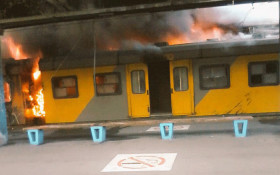 More Metrorail trains go up in flames at Cape Town station