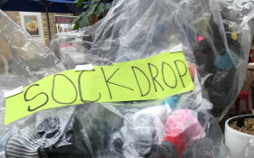 8-year-old collects socks for those in need with Rock your Socks