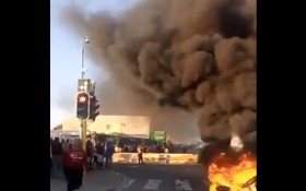 [VIDEO] Dunoon protests cause major traffic delays