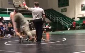 [VIDEO] Father tackling son's wrestling opponent has social media talking